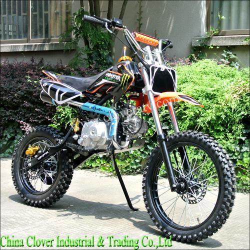 Hot Sale Semi Automatic Motorcycle 110cc Dirt Bike With Kick Start