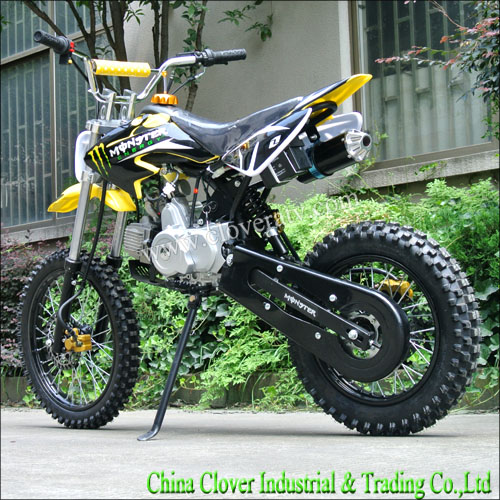yellow cheap two wheel motorbike 125cc pit bike dirt bike 110cc. Black Bedroom Furniture Sets. Home Design Ideas
